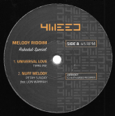 Tippa Irie - Universal Love / Petah Sunday ft Lion Warriah - Nuff Melody / Sista Awa - Stop Killing / Bassliner - Melody Riddim (4Weed) UK 12""